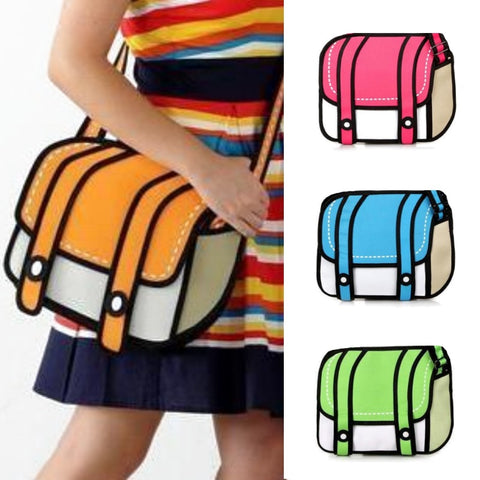2D Cartoon Jump Style Shoulder / Messenger Bag