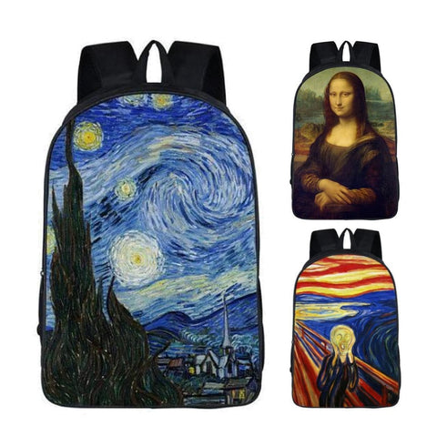 "Famous Paintings Art Print Backpack (17"")"