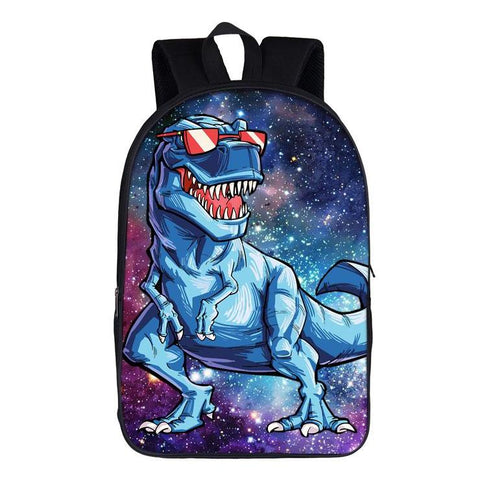 Funny Dinosaur w/ Sunglasses Backpack