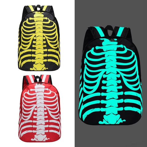 Glow-In-The-Dark Skeleton Backpack