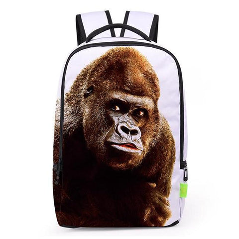 Canvas Gorilla Print Backpack
