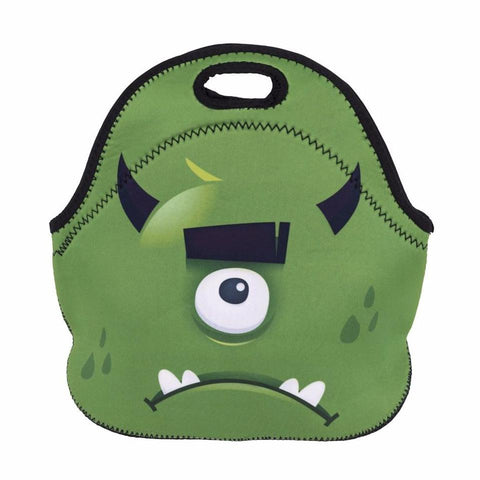 Neoprene Cartoon Monster Lunch Bag
