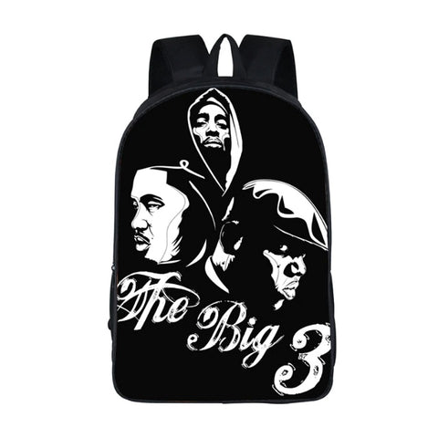 "Hip-Hop Rap Legends Backpack (17"") Big 3"