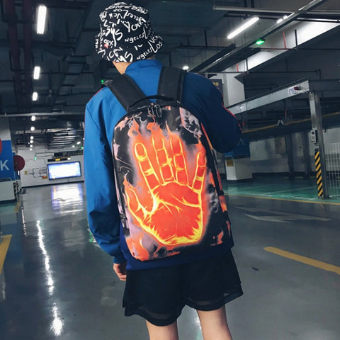 "Human Torch Flaming Hand Backpack (17"")"