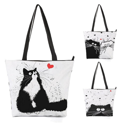Kitty Cat Love Shoulder / Tote Bag