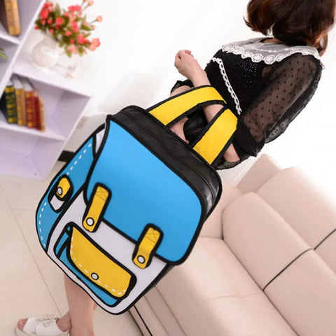 2D/3D Cartoon Backpack