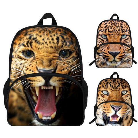 Photographic Leopard Print Backpack