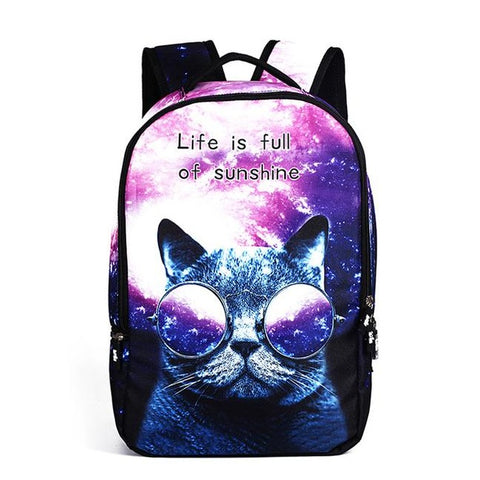 Life Is Full Of Sunshine Cat Backpack