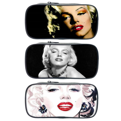 Marilyn Monroe Print Pencil / Cosmetic Bag