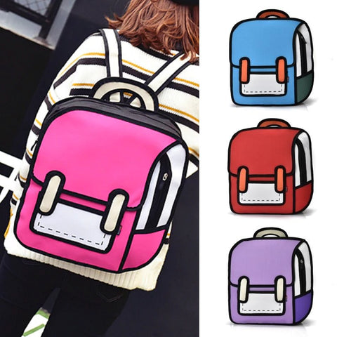 Medium 2D Cartoon Style Backpack