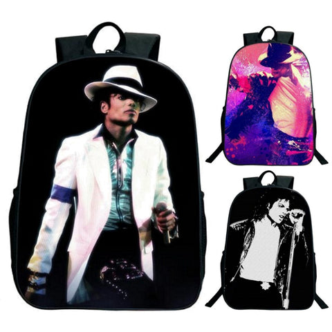 King Of Pop Michael Jackson Print Backpack