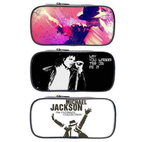 Michael Jackson Print Pencil / Cosmetic Bag
