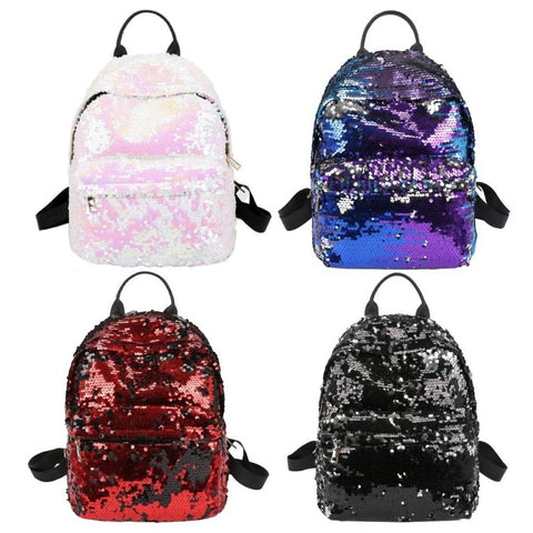 "Mini Multi-Color Sequin Backpack (12"")"