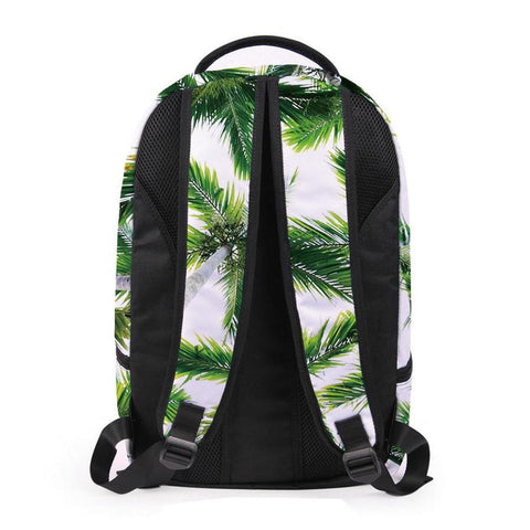 Back of Green Palm Tree Backpack