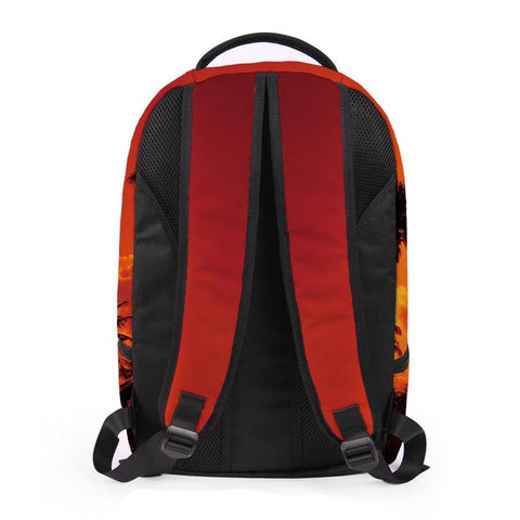 Back of Orange Palm Tree Backpack