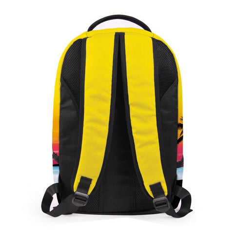 Back of Yellow Palm Tree Backpack