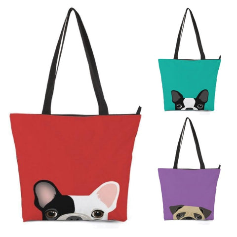 Peek-A-Boo Puppy Dog Shoulder / Tote Bag