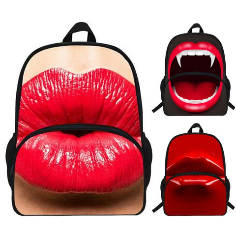 Photographic Red Lips & Mouth Backpack