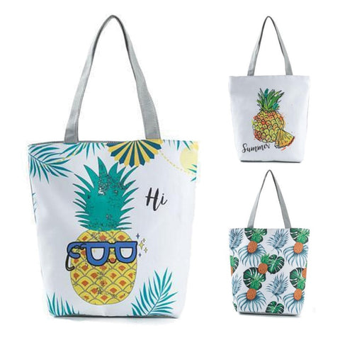 Pineapple Print Shopping / Tote Bag