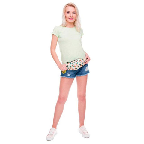 White Pineapple Waist Bag