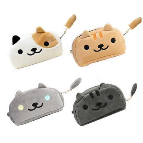 Plush Neko Atsume Cat Pencil Bag Case