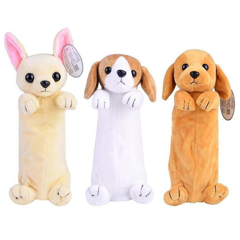 Plush Puppy Dog Pencil Bag Case