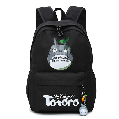 "My Neighbor Totoro Canvas Anime Backpack (18"") Black"