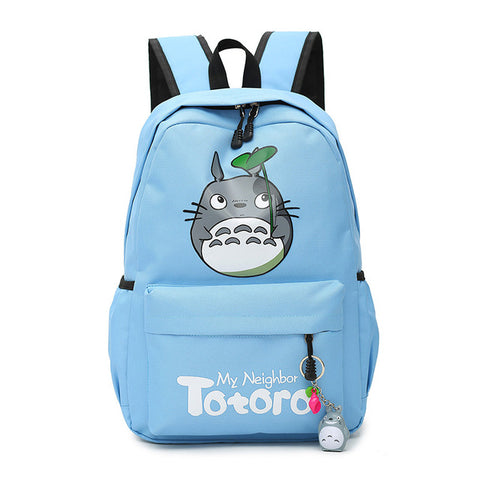 "My Neighbor Totoro Canvas Anime Backpack (18"") Blue"