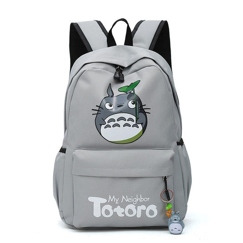 "My Neighbor Totoro Canvas Anime Backpack (18"") Gray"