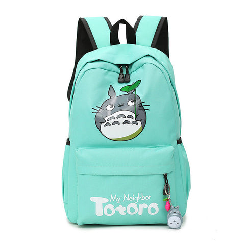 "My Neighbor Totoro Canvas Anime Backpack (18"") Teal"