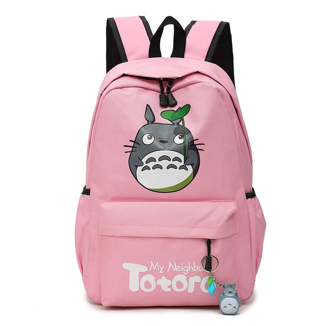 "My Neighbor Totoro Canvas Anime Backpack (18"") Pink"