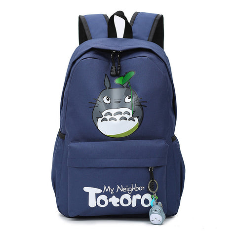 "My Neighbor Totoro Canvas Anime Backpack (18"") Navy"