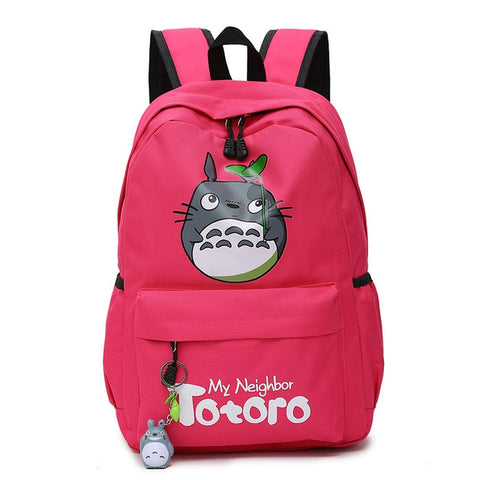 "My Neighbor Totoro Canvas Anime Backpack (18"") Red"