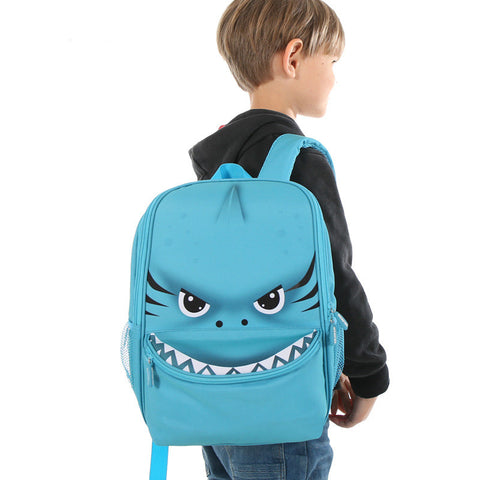"Kids 3D Cartoon Animal Face Backpack (16"")"