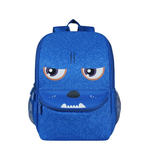 "Kids 3D Cartoon Animal Face Backpack (16"") Monster"