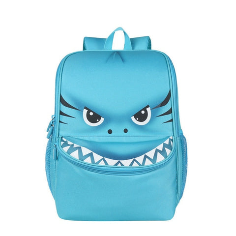 "Kids 3D Cartoon Animal Face Backpack (16"") Shark"