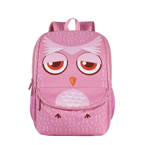 "Kids 3D Cartoon Animal Face Backpack (16"") Owl"