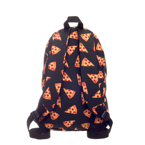 Back of Pizza Print Backpack
