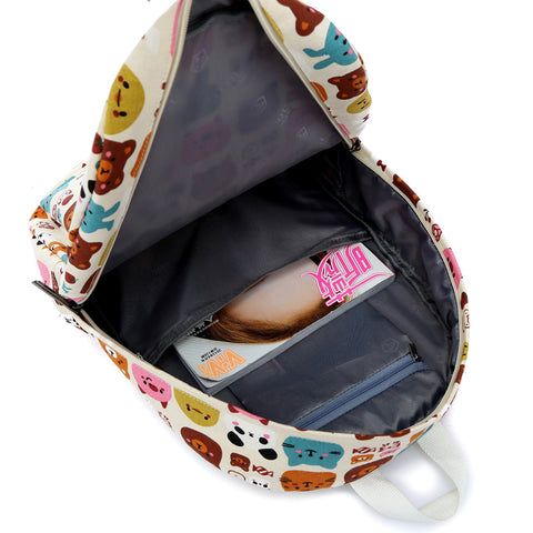 Inside Animal Pattern Backpack
