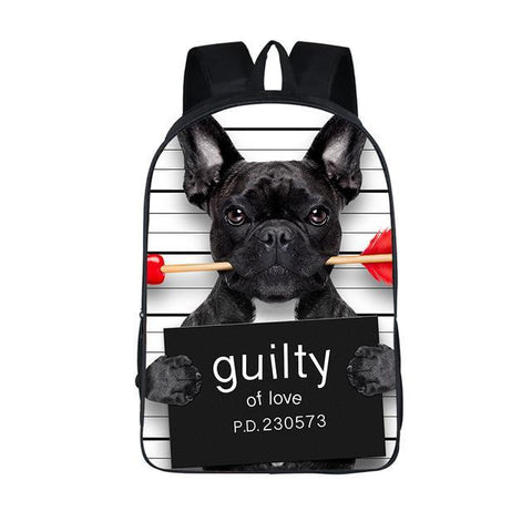 Guilty French Bulldog Backpack