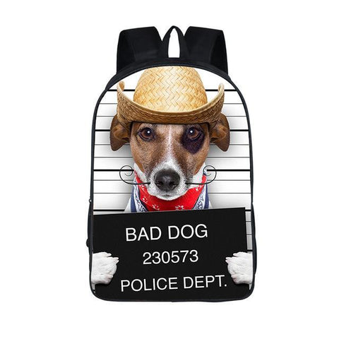 Dog Mugshot Backpack