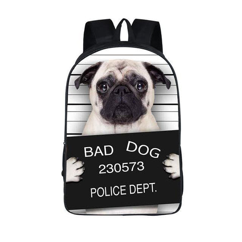 Bad Dog Police Mugshot Backpack