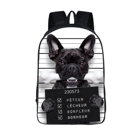 Bad French Bulldog Backpack