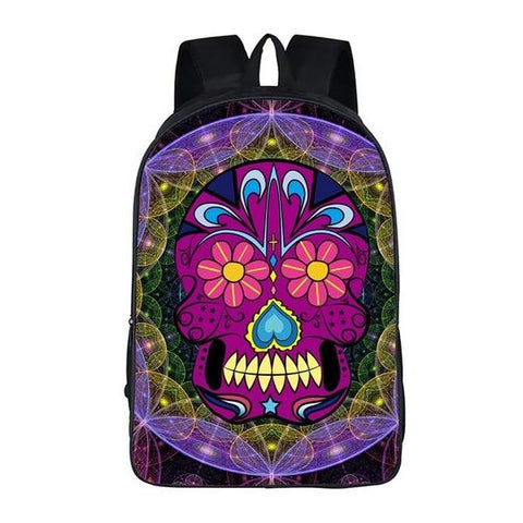 Mexican Skull Backpack Style 3