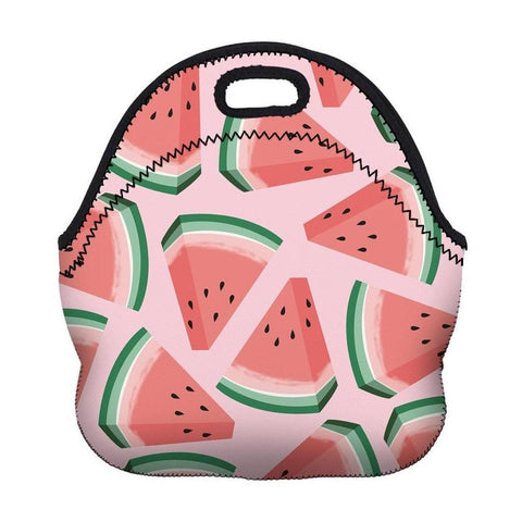 Insulated Neoprene Watermelon Pattern Lunch Bag