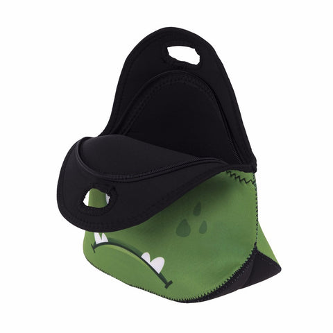 Open Green Monster Lunch Bag
