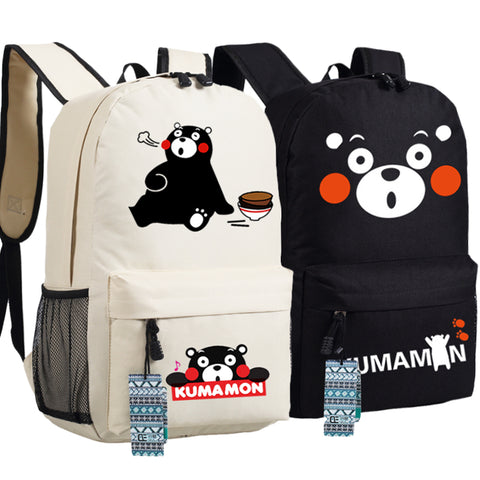 Kumamon Anime Black Bear Backpack