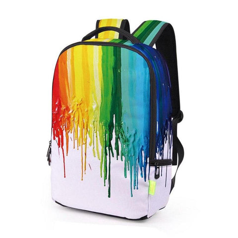 Artistic Canvas Dripping Paint Backpack