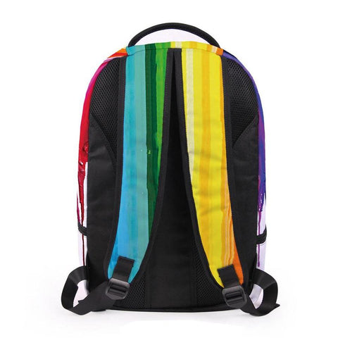 Back of Rainbow Paint Backpack