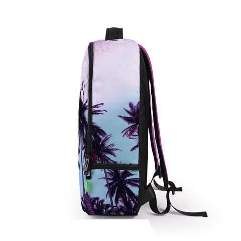 Side of Purple California Backpack